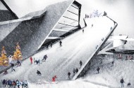 Rooftop Skiing